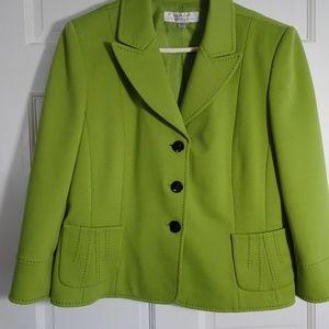 Green blazer with black details